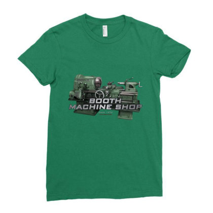 Booth Machine Shop Forrest Green (fashion Fit Tee) Ladies Fitted T-shirt Designed By Charlesfo