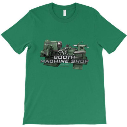 Booth Machine Shop Forrest Green (fashion Fit Tee) T-shirt Designed By Charlesfo