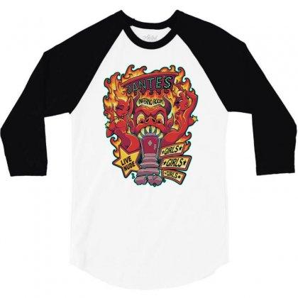 Dante's Inferno Room 3/4 Sleeve Shirt Designed By Monstore