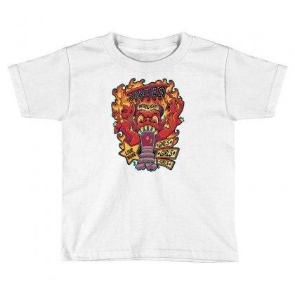 Dante's Inferno Room Toddler T-shirt Designed By Monstore