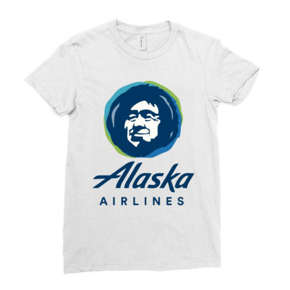 Alaska Airlines Ladies Fitted T-shirt Designed By Loye771290