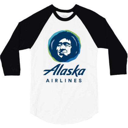 Alaska Airlines 3/4 Sleeve Shirt Designed By Loye771290