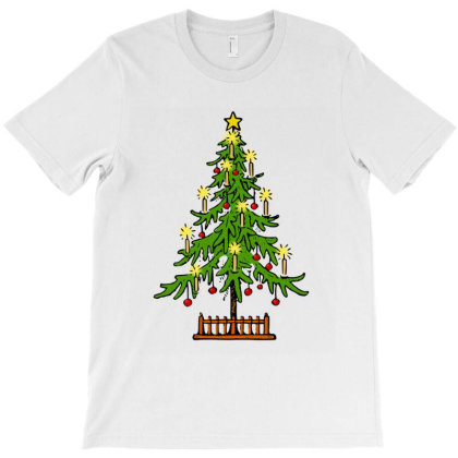 Dragonfly Christmas Tree T-shirt Designed By Faical