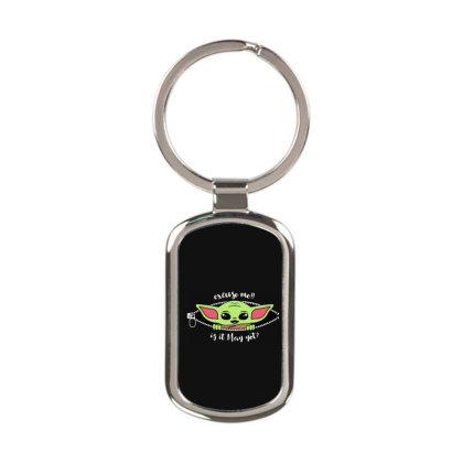 Baby Yoda Peek Rectangle Keychain Designed By Loye771290