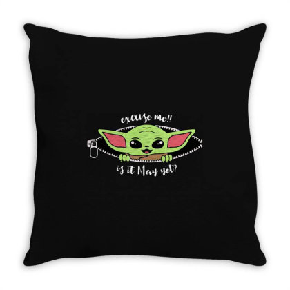 Baby Yoda Peek Throw Pillow Designed By Loye771290