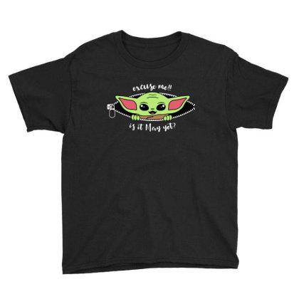 Baby Yoda Peek Youth Tee Designed By Loye771290