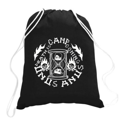 Camp Unus Annus Camping Funny Skeleton Bones Unus Fans Annus Skull Cam Drawstring Bags Designed By Animestars