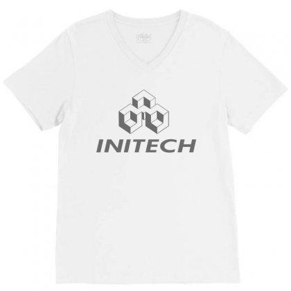 Company Initech Office V-neck Tee Designed By Nurmasit1