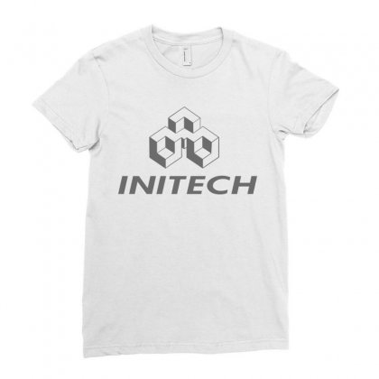 Company Initech Office Ladies Fitted T-shirt Designed By Nurmasit1