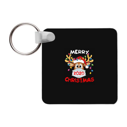 Reindeer In Mask Shirt Funny Merry Christmas 2020 Frp Square Keychain Designed By Conco335@gmail.com
