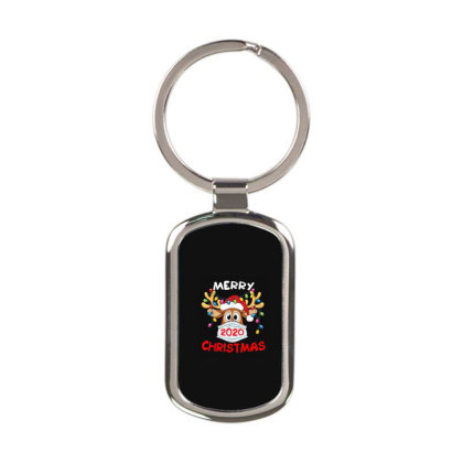 Reindeer In Mask Shirt Funny Merry Christmas 2020 Rectangle Keychain Designed By Conco335@gmail.com