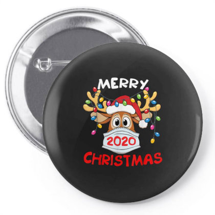 Reindeer In Mask Shirt Funny Merry Christmas 2020 Pin-back Button Designed By Conco335@gmail.com