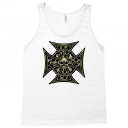 cross skull chain flames Tank Top | Artistshot