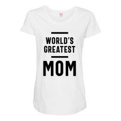 Womens World's Greatest Mom | Mom Grandma Tee Gifts Maternity Scoop Neck T-shirt | Artistshot