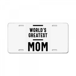 Womens World's Greatest Mom | Mom Grandma Tee Gifts License Plate | Artistshot