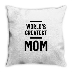 Womens World's Greatest Mom | Mom Grandma Tee Gifts Throw Pillow | Artistshot