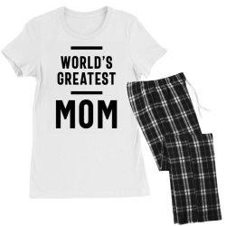 Womens World's Greatest Mom | Mom Grandma Tee Gifts Women's Pajamas Set | Artistshot