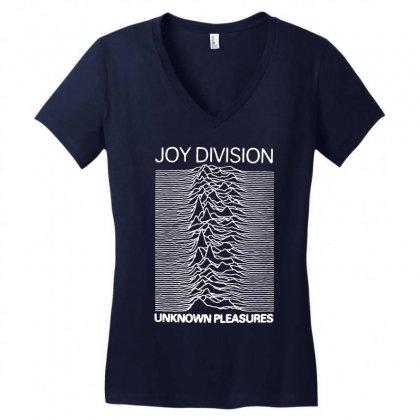 Joy Division Unknown Pleasures Rock Band Women's V-neck T-shirt Designed By Nurmasit1