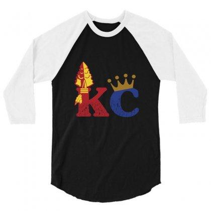 Kansas City Sports Hybrid 3/4 Sleeve Shirt Designed By Nurmasit1