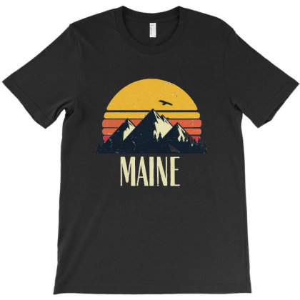 Retro Maine Heaven T-shirt Designed By Tasha