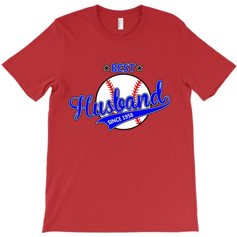 Best Husband Since 1958 Baseball T-shirt | Artistshot