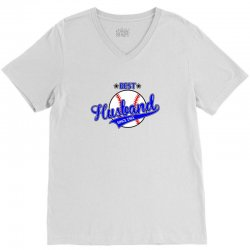 best husband since 1961 baseball V-Neck Tee | Artistshot