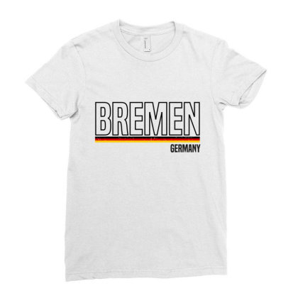 Bremen In Germany Ladies Fitted T-shirt Designed By Chris Ceconello