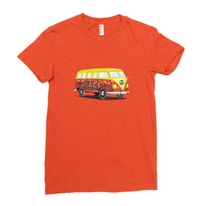 Yellow Van Ladies Fitted T-shirt Designed By Coşkun