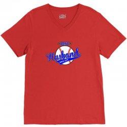 best husbond since 1975 baseball V-Neck Tee   Artistshot