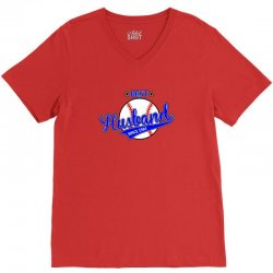 best husbond since 1984 baseball V-Neck Tee   Artistshot