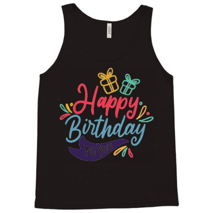 Happy Birthday 4 Tank Top Designed By Ndaart