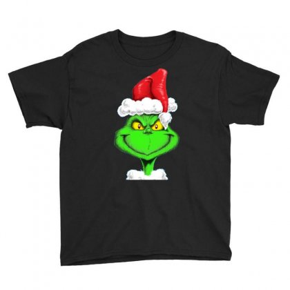 Grinch The Santa Youth Tee Designed By Mdk Art