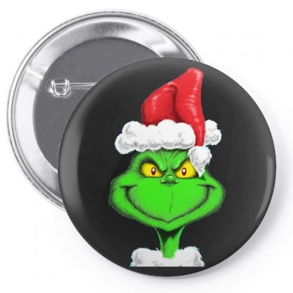 Grinch The Santa Pin-back Button Designed By Mdk Art