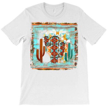 Aztec Cactus T-shirt Designed By Badaudesign