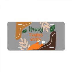 Happy Thanksgiving License Plate   Artistshot