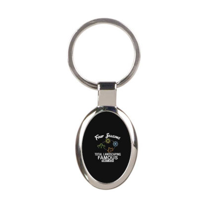 Four Seasons Total Landscaping 2020 Oval Keychain Designed By Kakashop