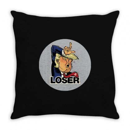 Donald Trump Loser Throw Pillow Designed By Mdk Art