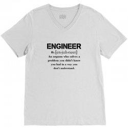 Engineer Definition Funny T-shirt V-Neck Tee   Artistshot