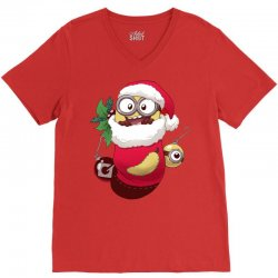 Christmas Santa Minion Stocking V-Neck Tee | Artistshot