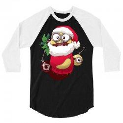 Christmas Santa Minion Stocking 3/4 Sleeve Shirt | Artistshot