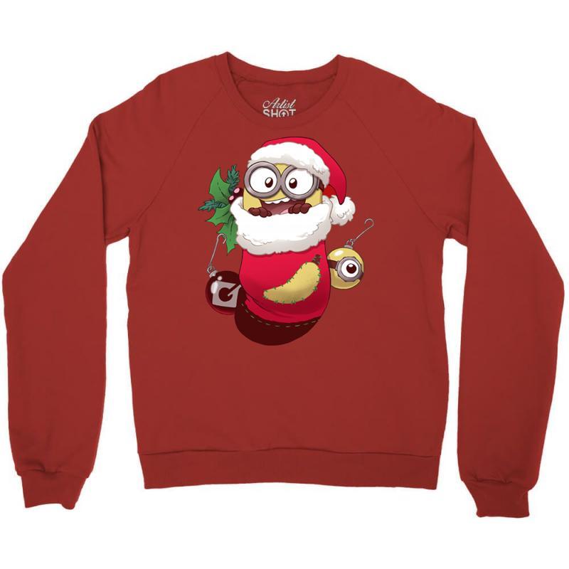 Christmas Santa Minion Stocking Crewneck Sweatshirt | Artistshot