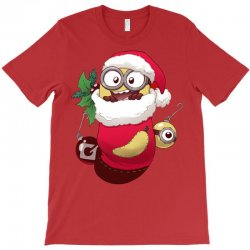 Christmas Santa Minion Stocking T-Shirt | Artistshot