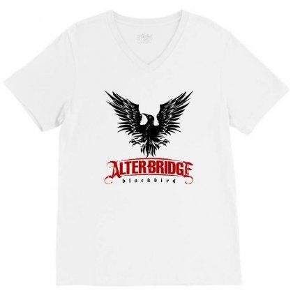 Alter Bridge Black Bird Music Vintage V-neck Tee Designed By Nurmasit1