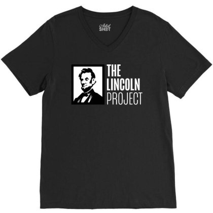The Lincoln Project V-neck Tee Designed By Loye771290