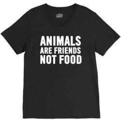 animals are friends not food V-Neck Tee | Artistshot