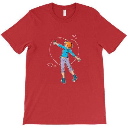 Manga Girl Hearts Graffiti T-shirt Designed By Mendoz