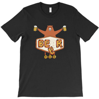 Beer Or Bear Hug T-shirt Designed By Dyarez
