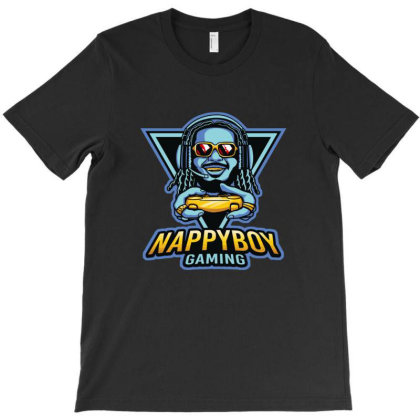 Nappy Boy Gaming T-shirt Designed By Mendoz