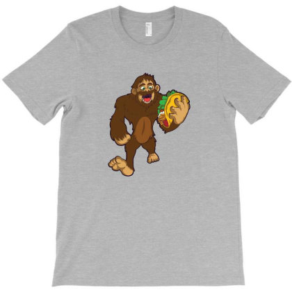 Bigfoot Taco T-shirt Designed By Dyarez