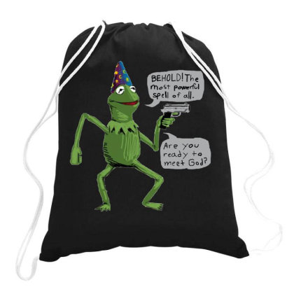 Wizard Kermit Drawstring Bags Designed By Loye771290